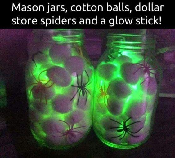 Halloween Decoration Ideas With Glow Sticks