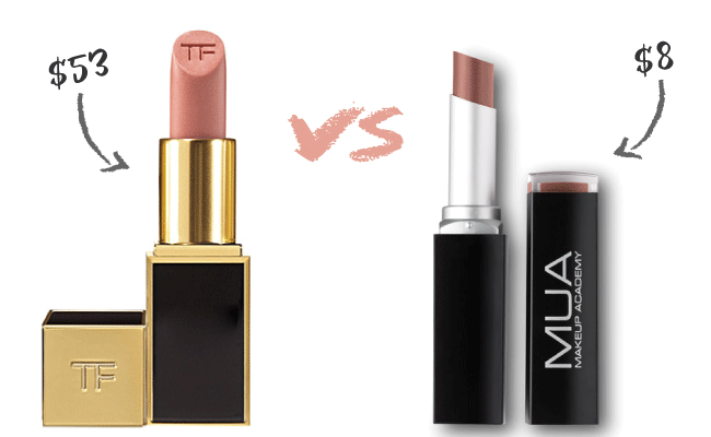 Tom Ford in Blush Nude Lip Color Dupe