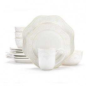 sc 1 st  Momdeals.com & 16 Piece Food Network Fontinella Beaded Dinnerware Set $49 @ Kohls