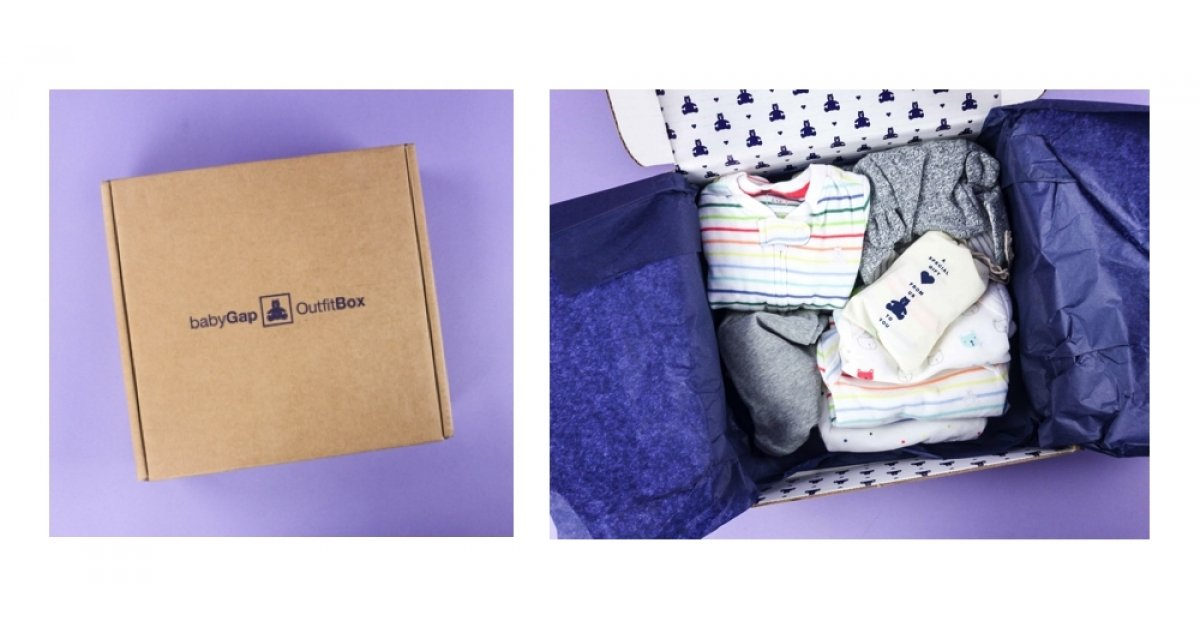 455ab611c603 New! Baby GAP Outfit Box Subscription - Try   Buy or Return What You ...