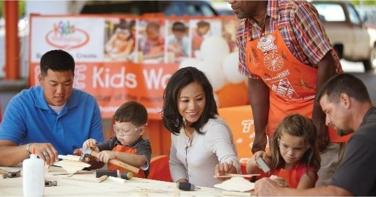 Home Depot Kids Workshop Blooming Art with Pin