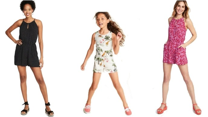 831bfbfdf Women's & Kids Rompers Just $10 And Under @ Old Navy