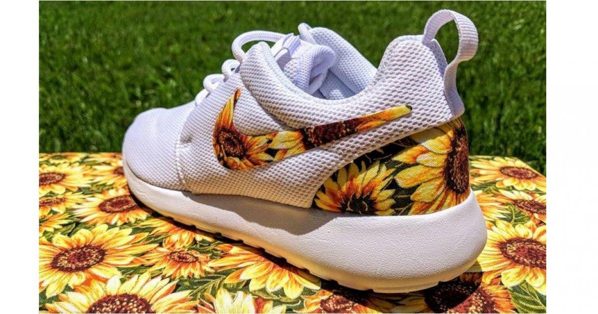 Custom Sunflower Nike Sneakers