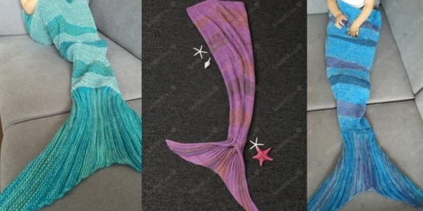 Mermaid Tail Blankets from $4.20 @ Everbuying
