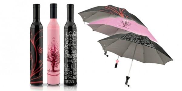 Wine Bottle Umbrella Just $8 @ Tanga