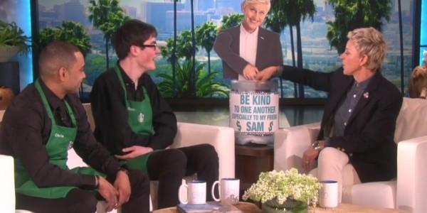 Sam, Starbucks Barista With Autism, Meets Ellen For An Amazing Surprise