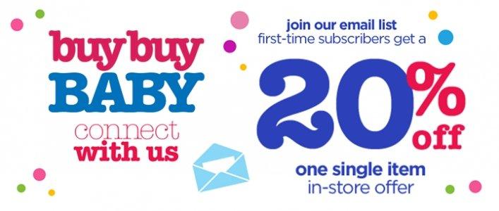 20% Off One Item In-Store @ Buy Buy Baby