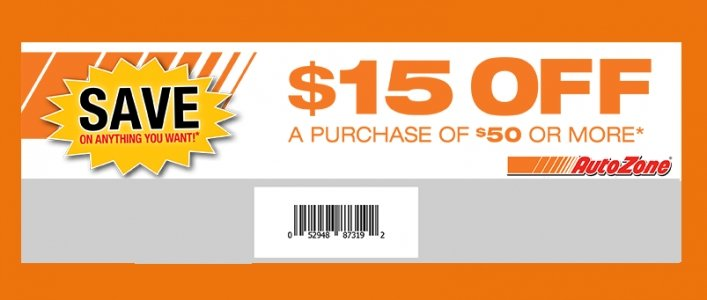 $15 Any Purchase of $50 @ AutoZone