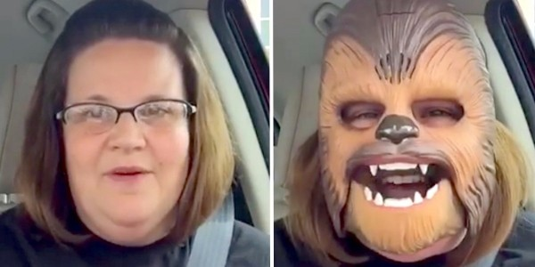 Mom Wears Chewbacca Mask In Kohl's Parking Lot, Starts Hysterically Laughing