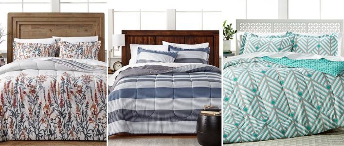 Doorbuster: 3-Piece Comforter Sets $18