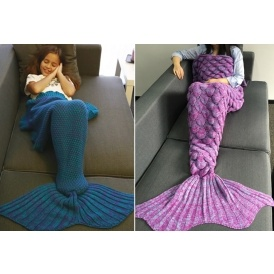 Knitted Mermaid Tail Blankets $5
