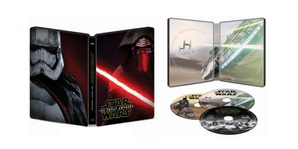 Star Wars: The Force Awakens SteelBook BluRay/DVD $15 @ Best Buy