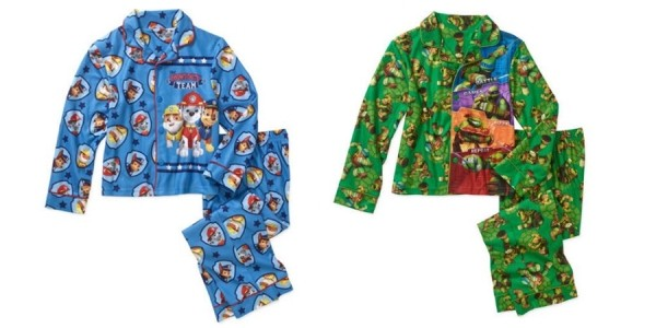 Boys' Licensed Character Pajamas $5.50 @ Walmart