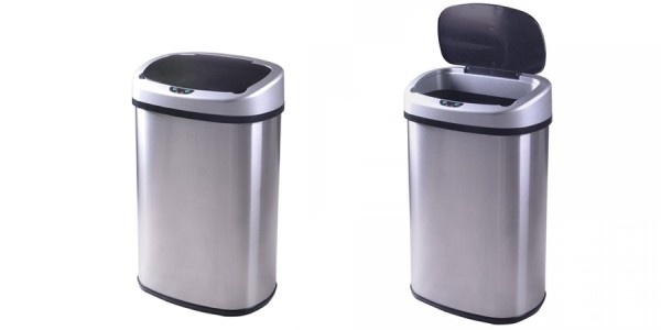 Touch-Free Stainless-Steel Trash Can Only $35 (was $94.99) @ eBay