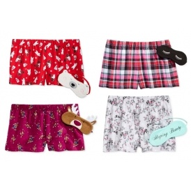 Pajama Shorts & Eye Mask Sets $2 @ Macy's