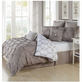 8pc Pintuck Comforter Set $70 @ Jane