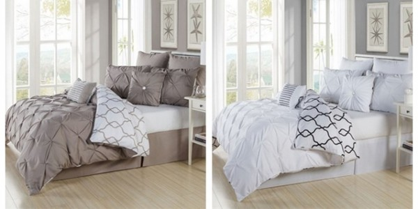 8-Piece Reversible Pintucked Comforter Set (Queen or King) $70 Shipped @ Jane
