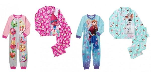 Girl's Character Pajamas $4.50 @ Walmart
