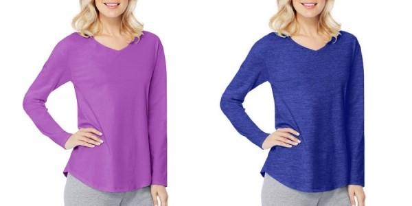 Women's Hanes Long Sleeve Tees $3.50 @ Walmart