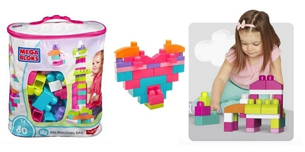 Mega Bloks First Builders 80pc Big Building Bag in Pink $10 @ Amazon