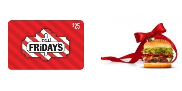 $25 TGI Friday's Gift Card $15 @ eBay