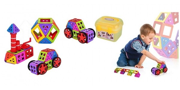 66-Piece NewIsland Magnetic Building Block Set $15 @ Amazon