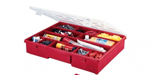 Stack-On Compartment Storage Box $5 @ Sears