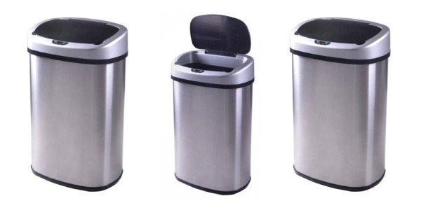 13 Gallon Touch-Free Stainless-Steel Trash Can Only $28 (was $94.99) @ eBay