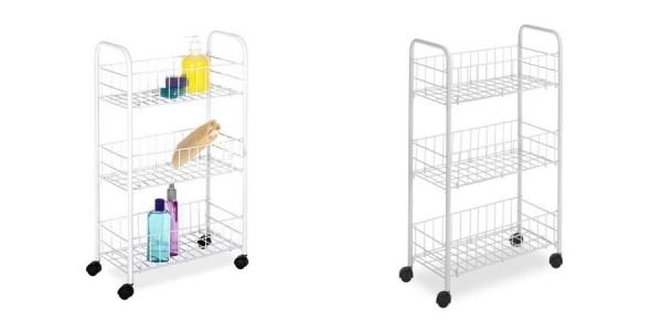 Whitmor Small White Household Cart $8 @ Walmart
