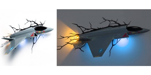 3D Wall Fighter Jet Night Light $5 @ Amazon