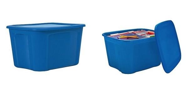 18 Gallon Plastic Storage Tubs Only $4 @ Staples
