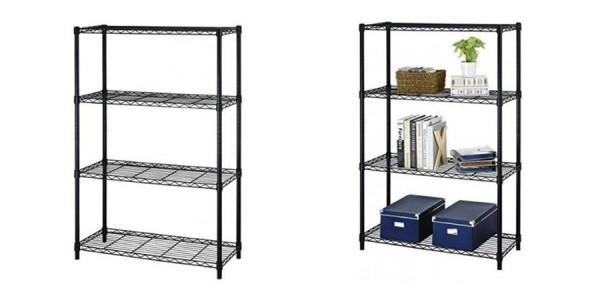 """BestOffice 54"""" Steel Wire 4-Tier Metal Shelving Rack $24 Shipped @ Rakuten"""