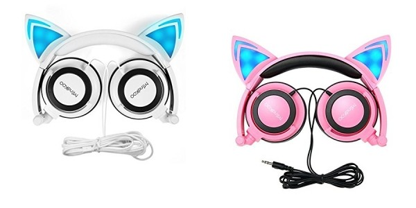 Glowing Cat Earphones $13 @ Amazon