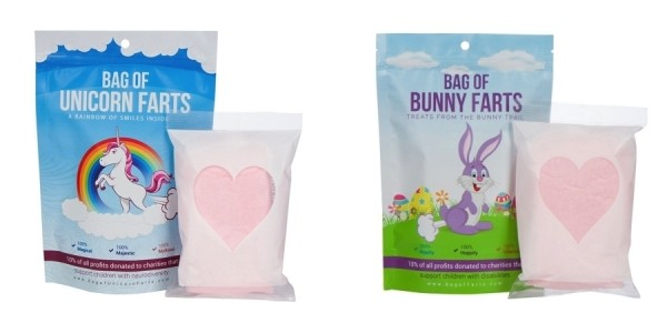 Bag of Unicorn or Bunny Farts Cotton Candy $10 @ Amazon