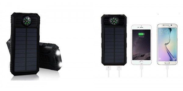 Solar Charging Power Bank With Flashlight $7.80 After Promo Code @ Amazon
