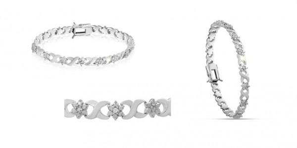 Diamond Flower Bracelet $14.99 @ SuperJeweler