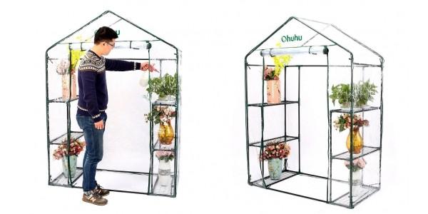 Walk-In 6 Shelf Portable Greenhouse $45 @ Amazon