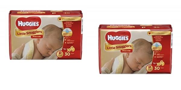 Huggies Little Snugglers Preemie Baby Diapers $4.17 @ Amazon