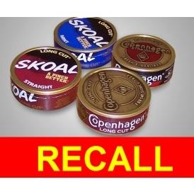 URGENT RECALL: Major Smokeless Tobacco