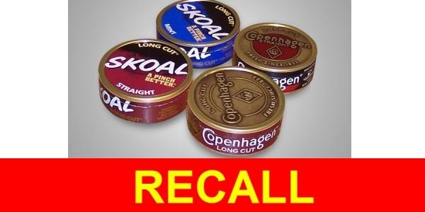 URGENT RECALL: Major Smokeless Tobacco Recall on Skoal, Copenhagen, Husty Brands
