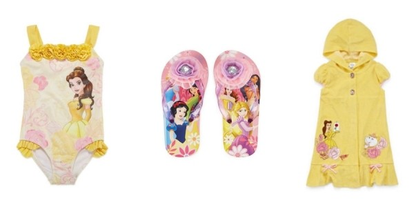 Disney Girls Beauty & The Beast Swimsuit $16 + More Accessories On Sale Now @ JCPenney