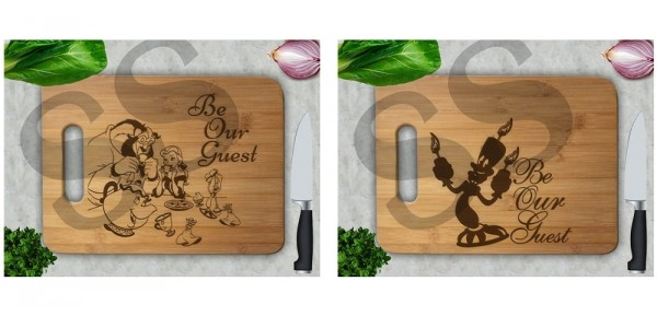 Beauty And The Beast Be Our Guest Cutting Boards Under $27 @ Etsy