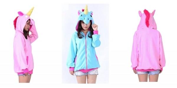 Unicorn Fleece Hooded Jacket $18 Shipped @ eBay
