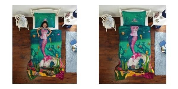 Dream Big Sea Princess Bedding Comforter Set $28 @ Walmart