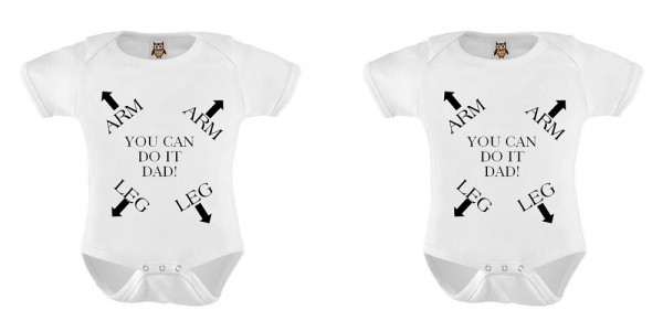 You Can Do It Dad Onesie $6.46 @ Etsy