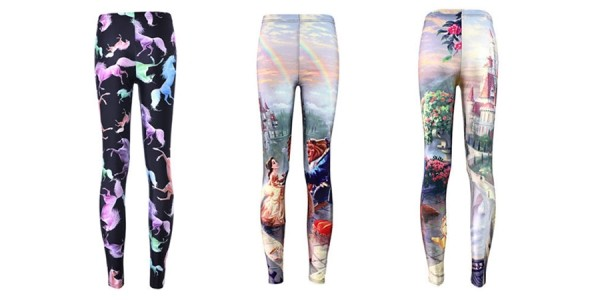 Beauty And The Beast Leggings (Plus Other Prints) $8.89 @ eBay
