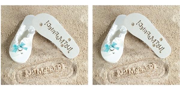 Just Married Imprint Flip Flops $7.89 @ eBay