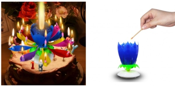 Rotating Musical Birthday Candle $2 @ AliExpress