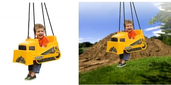 Caterpillar Dozer Toddler Swing $48 @ Jet