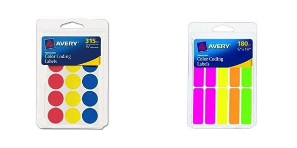 Avery Color-Coding Labels $1 (was $5) @ Walmart